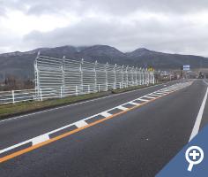 道路橋りょう改良工事(防雪柵)施工後画像